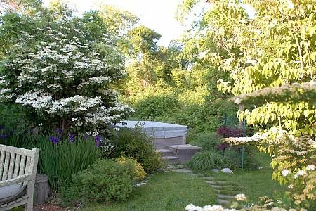 hot tub landscaping 1