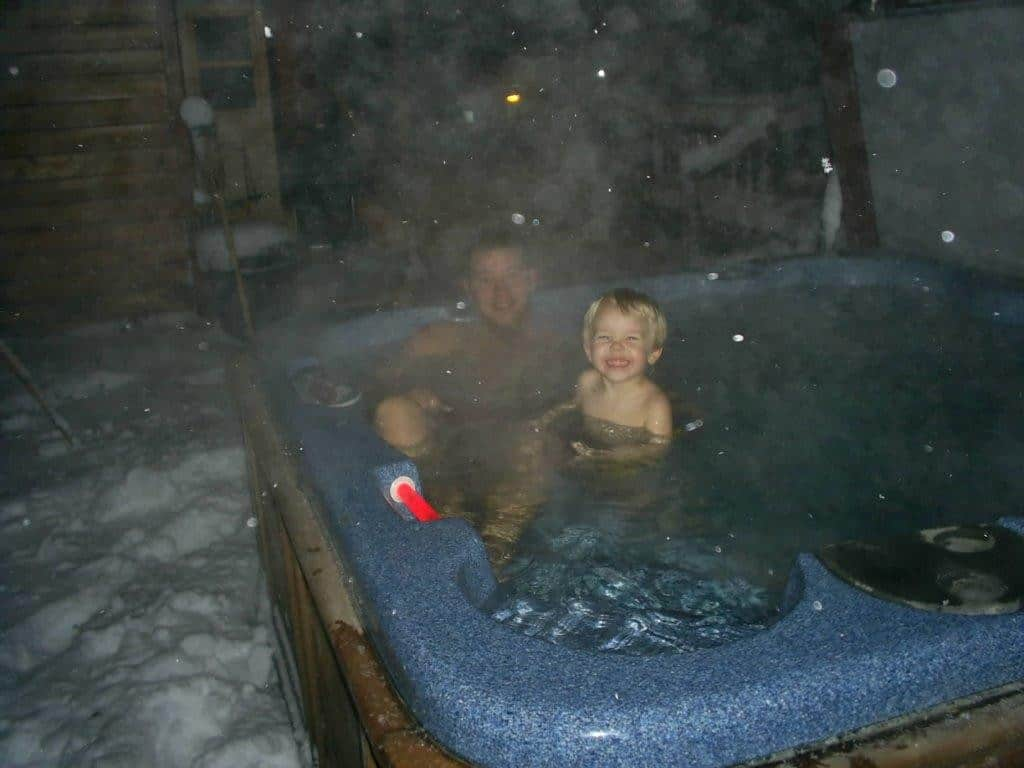 hot tub staycation