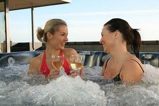 relax girlfriends hot tub 1