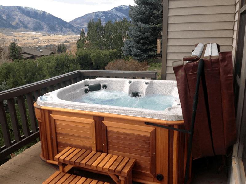 Arctic Spas Hot tub on a deck